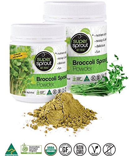 70g Powder (Super Sprout Broccoli Sprout Powder (Organic) - 70 Grams (2.47 Ounces))
