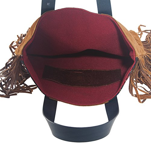 Handtasche, Rosi Braun, in stoff, made in Italy