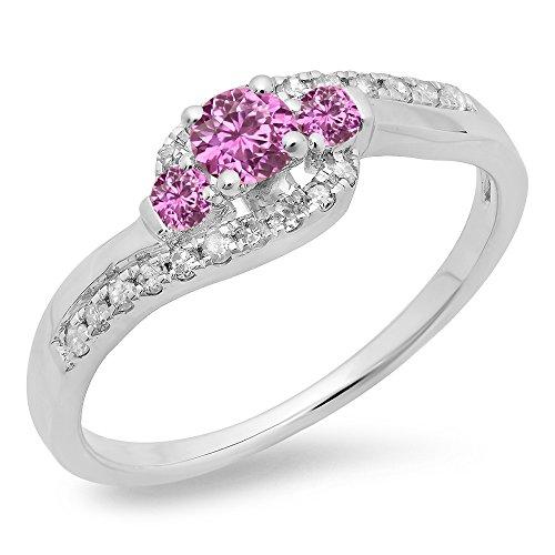 Diamond & Sapphire Bypass Ring - 8