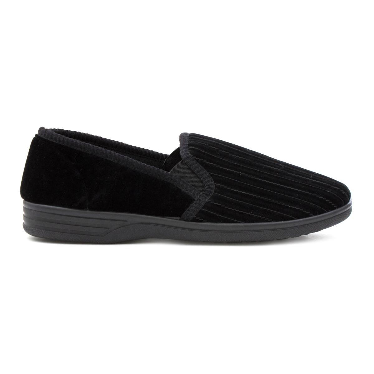 The Slipper Company Pantufla Negra, Rayada, Para Hombre - Talla 7 UK/40.5 EU - Negro
