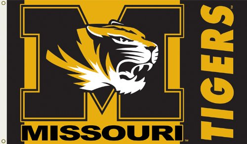 NCAA Missouri Tigers 3-by-5 Foot Flag with Grommets
