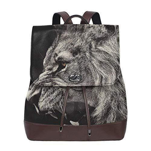 Lion Paint Women's Leather Backpack£¬Unique Design With Elegant Appearance