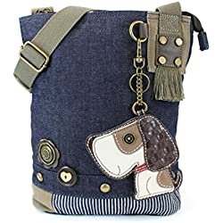 Chala Husky Mini Crossbody Bag Small Convertible Blue Dog Purse New with Tags