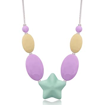 Baby Silicone Teether Teething Jewelry Teething Necklace