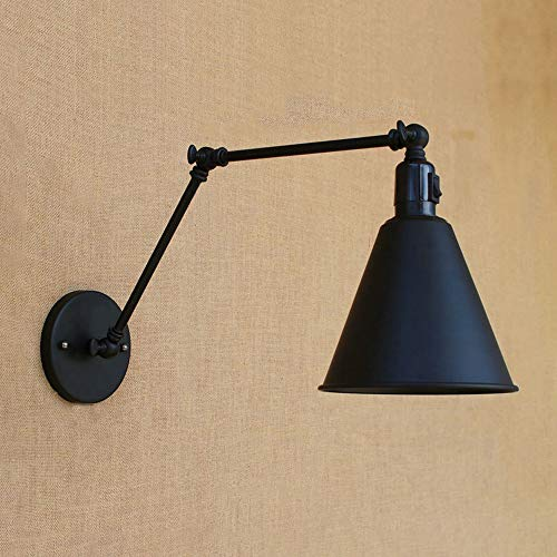 NIUYAO Vintage Industrial Wall Lighting Adjustable Swing Arm Retro Style Antique Wall Lamp Decor Lighting Fixture Wall Sconces for Study Room Bedside Wall Lighting