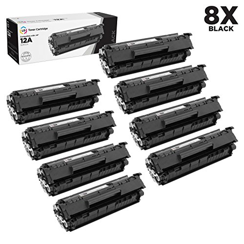 Compatible Replacements for HP Q2612A / 12A Set of 8 Black L