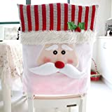 Christmas Chair Covers,Elevin(TM)Santa Claus Chair Back Cover Snowman Hat Dinner Table Party Decor,5065cm (Red)