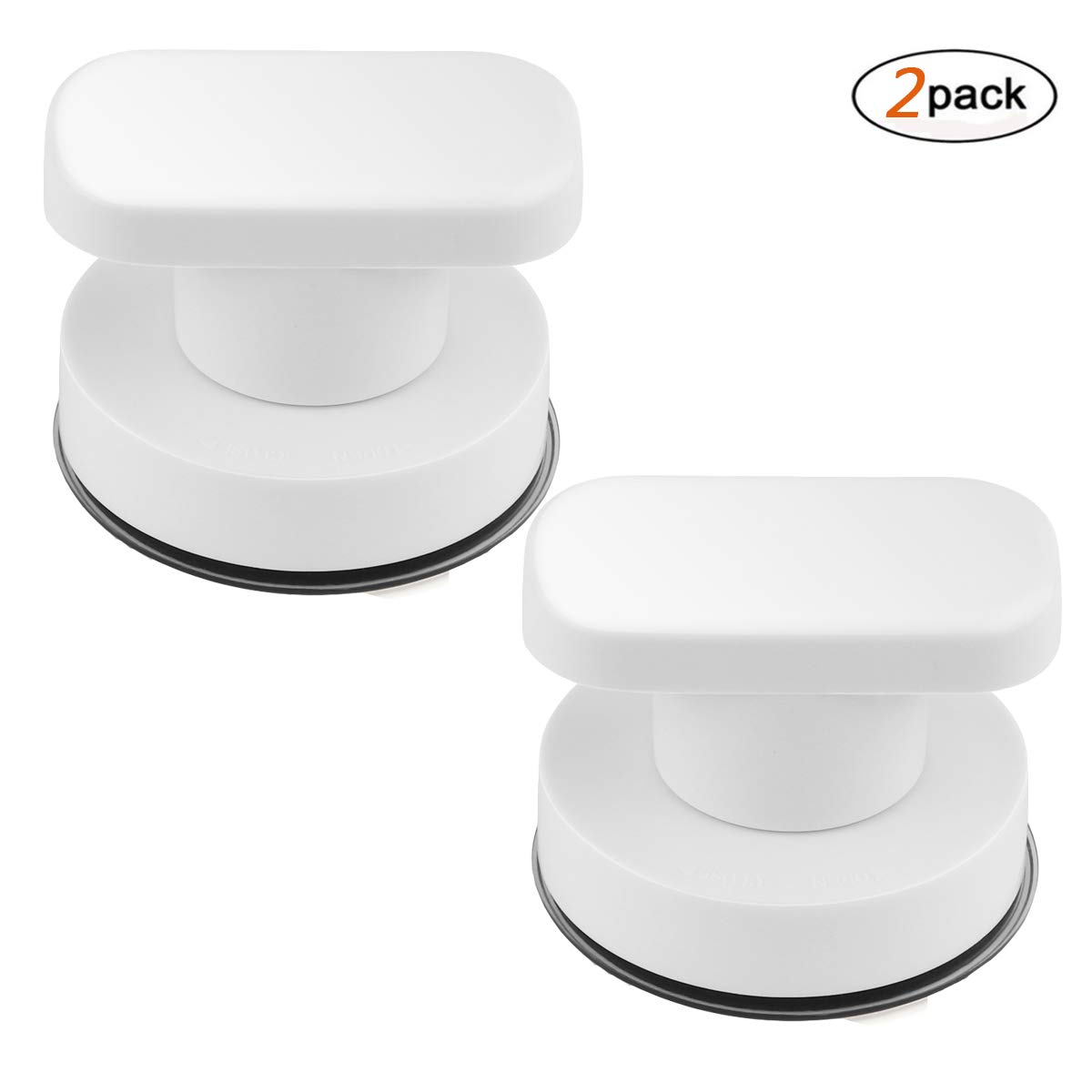DDSKY 2-Pack Strong Suction Cup Drawer Glass Mirror Wall Tile Handles Toilet Bathroom Door Pulls Glass Door Pull Adsorbent Handle and Knobs