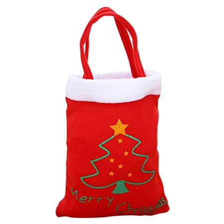 Hankyky Christmas Tree Deer Pattern Bags Santa Claus Red Candy Bag Handbag  Home Party Decoration Gift 134f14ac5ad0a