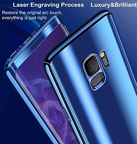 6975650f3154 Galaxy S9 Case + Screen Protector Alsoar Samsung Galaxy S9 Plus Cover 2 in  1 360 Full Body Protection PC case Ultra Thin Hard Plating Shockproof ...