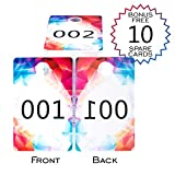 Live Sale Plastic Number Tags LARGE Size , Facebook, Clothing and Lularoe Supplies, Normal and Reverse Mirror Image Numbers, Reusable Hanger Cards, Consecutive Numbers (1-100), JEWELRY STYLE - Shumni