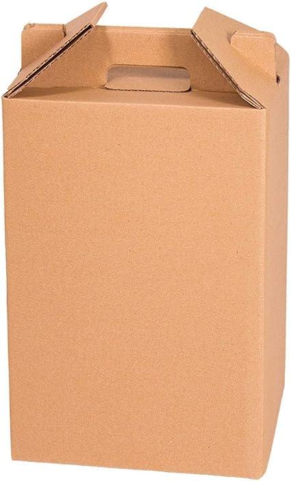 Kartox | Caja para Vino | Estuche de 4 botellas de vino | Caja para lote de navidad | Color marrón | 4 Unidades: Amazon.es: Oficina y papelería