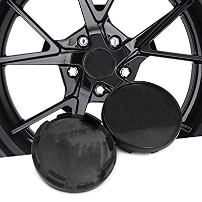 Set of 4 54mm(2.13in)/51mm(2.01in) Wheel Hub Center Caps Black Base for Ibiza 2006-2015 Exeo 2008-2013#6LL601171 Replacement: Automotive