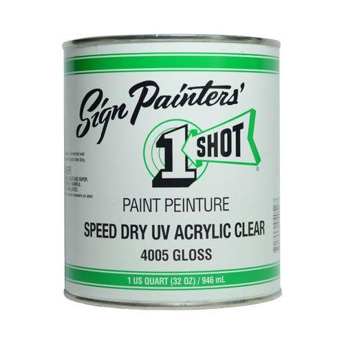 Paint Clear Uv - 1-Shot Speed Dry UV Acrylic Clear 32 oz.