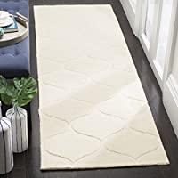 Safavieh Cambridge Collection CAM730P Ivory Moroccan Ogee Runner (26 x 8)