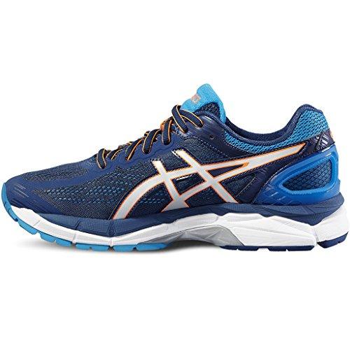 Asics Gel-Pursue 3, Zapatillas de Entrenamiento para Hombre Mehrfarbig (Poseidon/Silver/Blue Jewel)