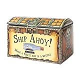 Ship in a Bottle Model Retro Construction Kit - Wood Pieces in Plastic Container