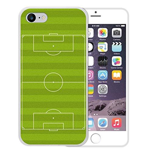iPhone 8 Hülle, WoowCase Handyhülle Silikon für [ iPhone 8 ] Fußballfield Handytasche Handy Cover Case Schutzhülle Flexible TPU - Transparent