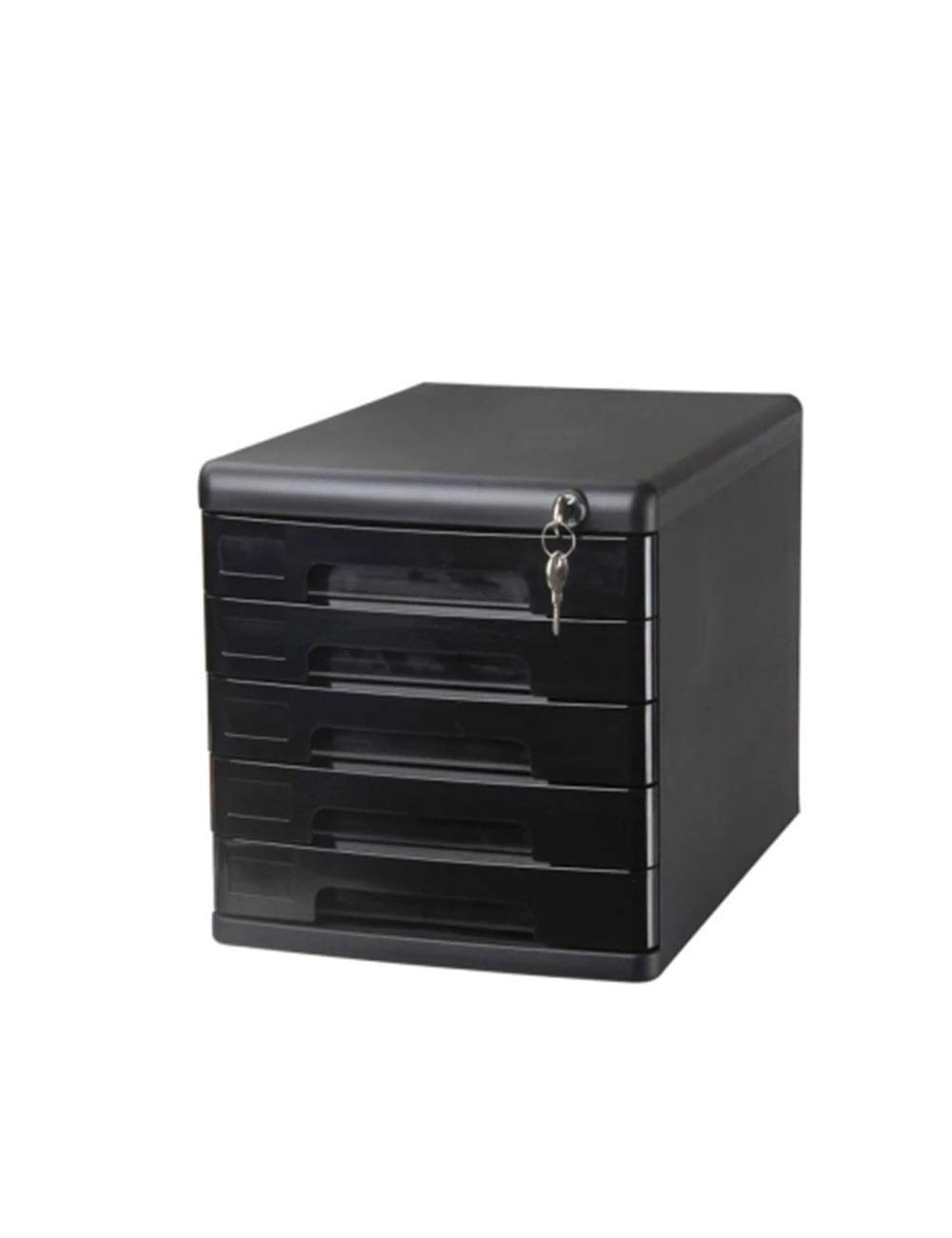 File Cabinet 5 Drawers Plastic Desktop Security Cabinet File Storage Cabinet Storage Box Desktop Office Locker Filing cabinets (Color : B)