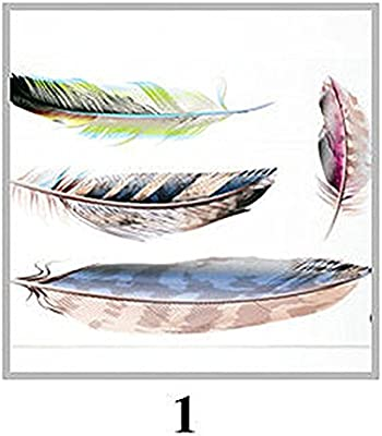 Reflective Scratch Stickers 3D Rear View Mirrors Decals Colorful Feather A1 Shape Tags For Cars kjdstore 0512-1A1