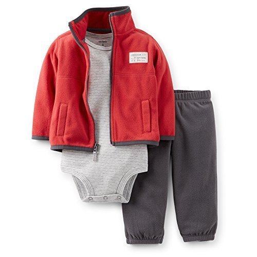 Carter's Baby Boys' 3 Piece Fleece Cardigan Set (newborn)