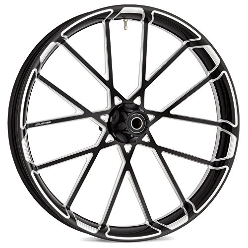 Arlen Ness 10101-203-6501 Contrast Cut Rear Rim (Black 18 X 5.5 2009-UP FLT 180mm ()