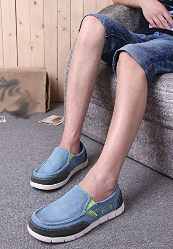 Scarpe Moda Espadrillas Tela Pescatore Di Casual Da Uomo Lightblue Scarpe Di Da Comode Scarpe Pigri 77Yqwf
