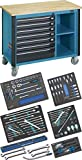 Hazet 179W-7/128 Mobile work bench with commercial vehicle assortment