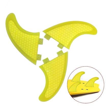Lixada Honeycomb Surfboard Fins Thruster