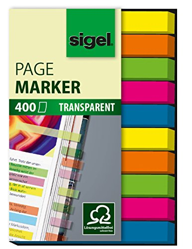 sigel-hn617-page-markers-film-green-blue-pink-yellow-orange-024x197-inches-400-strips