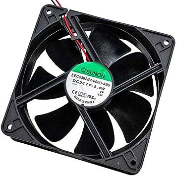 Fan Ventilador 24V 5,2W 120x120x38mm 197m³/h 44dBA ; Sunon ...
