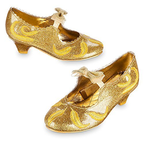 Disney Belle Deluxe Costume Shoes for Kids - Live Action Film Size 2/3 ()