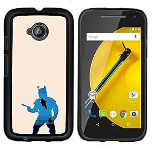 Jordan Colourful Shop - Boba Fett Silhouette For Motorola Moto E 2nd Generation Personalizado negro cubierta de la caja de pl????stico