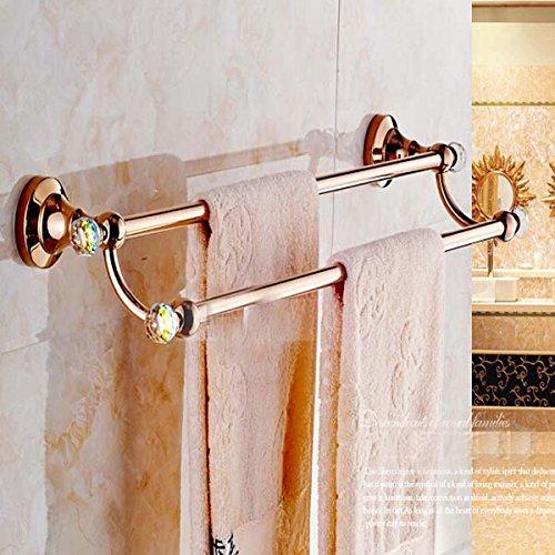 30%OFF Senlesen Crystal Style Rose Golden Wall Mount Bathroom Towel Rack Holder