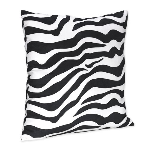 Zebra Print Accent Pillow for Turquoise Funky Zebra Bedding Set by Sweet Jojo Designs