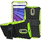 Moto G4 Case, Moto G4 Plus Case - OEAGO [Shockproof] [Impact Protection] Tough Rugged Dual Layer Protective Case Cover with Kickstand for Motorola Moto G4 / G4 Plus (Moto G Plus, 4th Gen) - Green