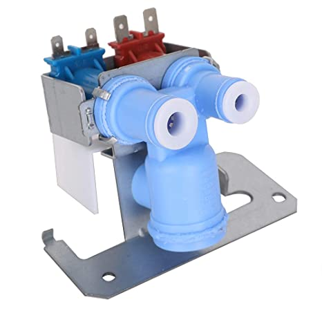 WR57X10051 Ultra Durable Double Solenoid Refrigerator Water Inlet Valve  Replacement Part fit Frigs with Ice Maker and Water Dispenser for GE  Hotpoint