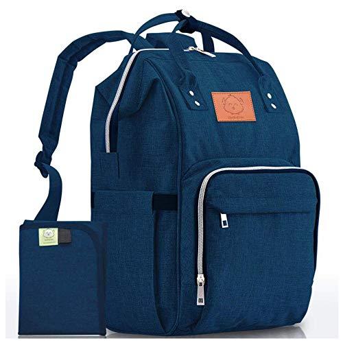Diaper Bag Backpack – Large Waterproof Travel Baby Bags (Navy Blue)