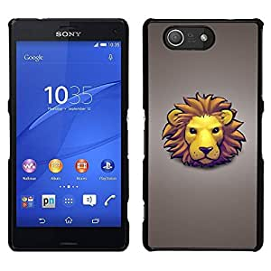 Caucho caso de Shell duro de la cubierta de accesorios de protección BY RAYDREAMMM - Sony Xperia Z3 Compact - La cara del león