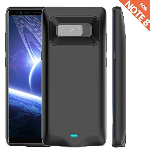 Galaxy Note 8 Battery Case,Ruky Protable Extended Charging Battery Pack for Samsung Galaxy Note 8 6.2-inch Phone - 5500mAh Extended Battery Protective Case Power Pack - (Black)