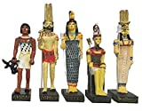 Ancient Egypt Egyptian God 11 Figurines Set Resin Statue size 5