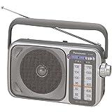 Panasonic Portable Radio AM/FM AC/DC, Silver (RF-2400)