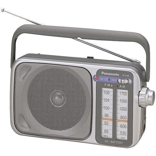 Panasonic Portable Radio AM/FM AC/DC, Silver (RF-2400) Panasonic Canada