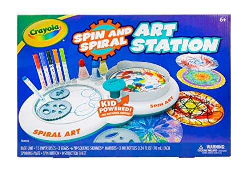 Crayola Spin & Spiral Art Station, DIY Crafts for Kids, Gift, Over 20Piece