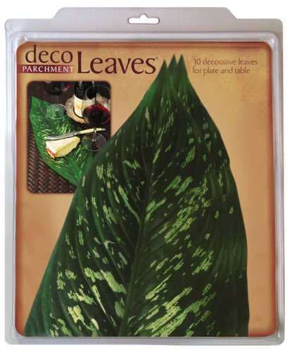 10 Tropical Leaf - EuroQuest Imports Large Tropical Deco Parchment Leaves, Package of 10