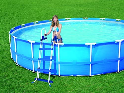Bestway 8320600 Escalera Piscina Alto 107 cm.: Amazon.es: Jardín