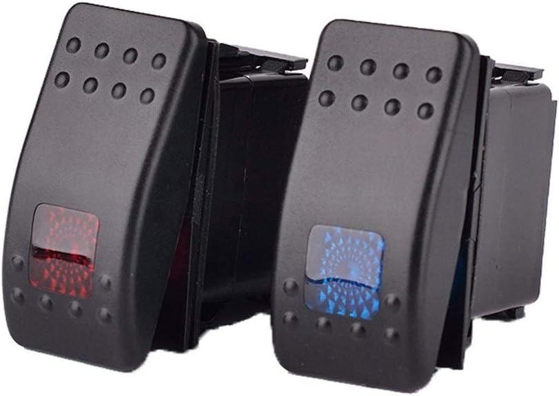 ZHANGBIN El yate rv auto modificó el interruptor de apagado interruptor de reinicio del barco con indicador LED 12v-24v universal (Color : Black)