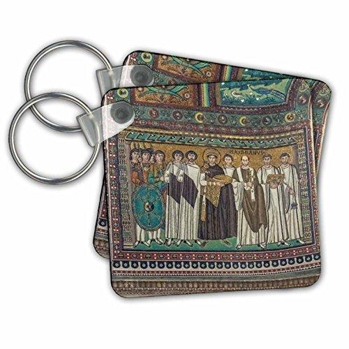 Danita Delimont - Italy - Italy, Ravenna, Basilica of San Vitale Mosaic - Key Chains - set of 2 Key Chains - Mosaic Ravenna