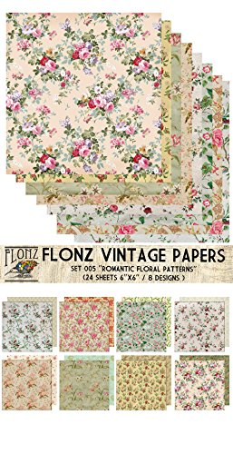 Vintage Flower Patterns (Paper Pack (24sh 6