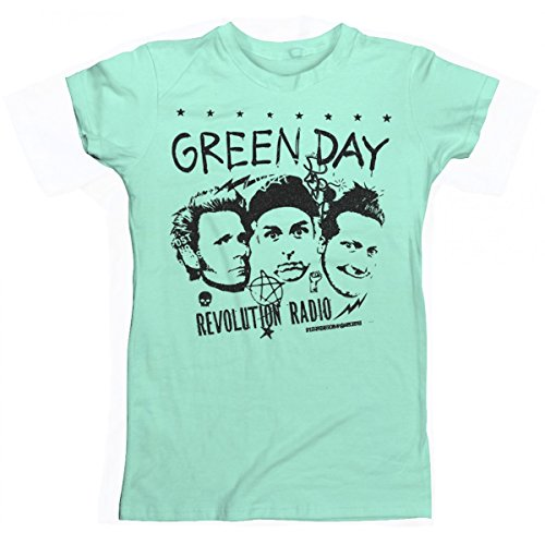 Green Day Photo Collage Juniors T-Shirt Mint (Collage Juniors T-shirt)